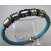 Fashion Jewelry Stainless Steel/Leather Cuff Bracelet Manufactures