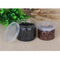 China 480ml Thick Transparnt PET Food Plastic Packaging Cylinder Cans OEM on sale