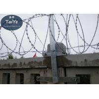 High Zinc Coated Chain Link Fence Barbed Wire Arms  Firm Structure On Railway Manufactures