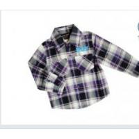 China Customized  Long Sleeved Kids Plaid Checked Shirts with chest pocket , plaid t shirts  on sale