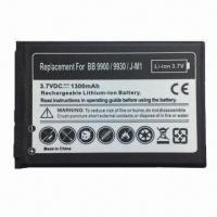 Mobile Phone Battery for BlackBerry 9900/9930, Fully Decoded 1300mAh Battery Replaces J-M1 Manufactures
