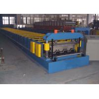Steel Concrete Floor Decking Sheet Tile Roll Forming Machine Zinc Coating Manufactures