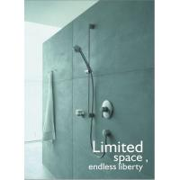 Modern Single Lever Wall Mount Bathroom Sink Faucet Brass Concealed Taps , Polished Chrome Manufactures