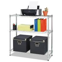 Small Chrome Finish Office Storage Racks  / Adjustable Metal Shelving Unit Manufactures