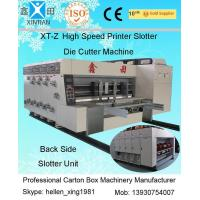 380V Stable Carton Packing Machine With Die Cutter / Corrugated Case Flexo Printer Manufactures