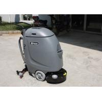 Small Hand Push Cleaner Compact Floor Scrubber Machine With 20m Electrical Wire Manufactures