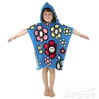 Durable Cartoon Hooded Poncho Towels / Soft Touch Personalised Poncho Towel Dryfast Manufactures