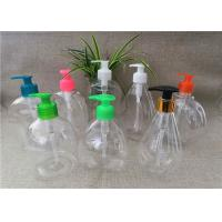 China Screw On Type Blank Shampoo Bottle , Transparent Cosmetic Plastic Bottles for sale