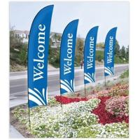 Double Sided Beach Flag Banner Sublimation Printing Aluminum / Fiberglass Poles Manufactures