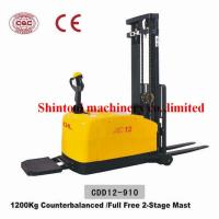 1.2 Ton Powered Electric Pallet Stacker With CURTIS 1230 Controller CDD12-910 Manufactures