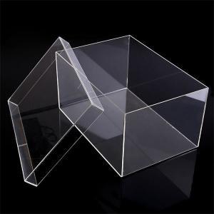 China Custom plexiglass acrylic storage box for nike shoes on sale
