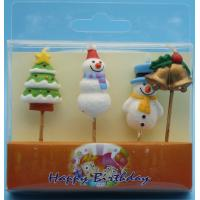 China Paraffin Wax Special Shaped Birthday Candles For Christmas Decor Odorless on sale