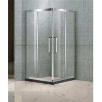 Corner Enter Sliding Shower Boxes With Two Middle Stainless Steel Profiles and 8 MM Tempered Glass Manufactures