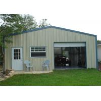 Fire Resistant  Metal Shed Garage Building / Steel Storage Garage With Electric Gate Manufactures