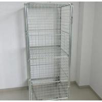 Metal Customize Supermarket Roll Cages With Removable Flat Shelves