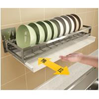 Quality Wall Mounted Kitchen Tray Rack 5cm Guardrail With Drain Board Dish Drainer for sale