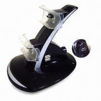 Charger Stand for Sony PSX3 Wireless Gamepad, with Blue LED Light, Can Charge 2 Controllers Manufactures