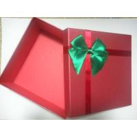 China Handmade Cardboard Gift Packaging Boxes With Ribbon , 1200g Grey Board + 157g C2S Art Paper on sale