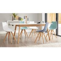 Satin Matt Simple Modern White Dining Table Extendable Function Optional Color Manufactures