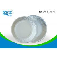 White Color Eco Friendly Paper Plates 6 Inch For Birthday Celebrations Manufactures