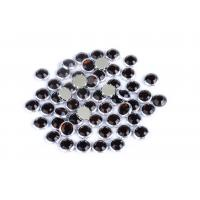 Custom Color Rimmed Rhinestones Flatback Good Stickness High Color Accuracy Manufactures