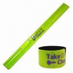 Yellow Reflective Slap Bracelet, EN-471/13356 Passed, Measures 3 x 33cm Manufactures