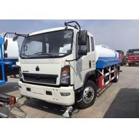 8CBM Water Bowser Truck , 4 X 2 HOWO Water Tank Truck For Warm Water Delivery Manufactures