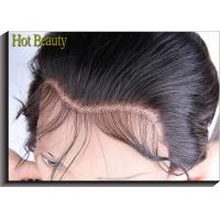 China Top Closure Ear to Ear  Swiss Lace Frontal Body Wave , Natural Black Color wholesale