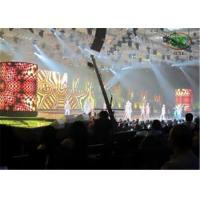 Adjustable Full Color HD Flexible Curtain LED Display With Steel / Aluminum Cabinet Manufactures