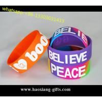 Hot Sale No Minimum Custom Debossed/Embossed/printed 1 Inch Silicone Wristbands Manufactures