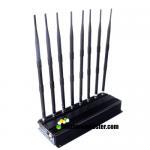 AC100-240V 8 Antennas 20w Adjustable Mobile Phone Signal Jammer Lojack/WiFi/VHF/UHF Jammer Up To 40m Jamming Range Manufactures