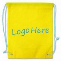 Drawstring Bag, Green Product, Made of 80g/m² Nonwoven Material Manufactures