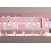 Easy Install Showroom Display Cases Acrylic Logo Pink Coating Finish Color Manufactures