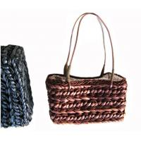 21926 corn husk straw bag, rattan bag, pillow shape straw bag, shoulder straw bag Manufactures