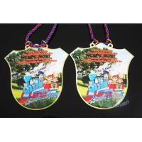 Buy cheap Custom Design Soft Enamel Medals With Cord , Printing Full Color Brass Material Orden from wholesalers