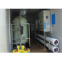 China Containerized Brackish reverse osmosis water treatment plant for  drinking 6m3 / hour on sale