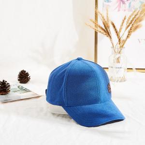 Winter Blue Towel Velvet Warm Leather Patch Sun Hat Manufactures