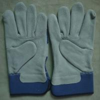 "China 10.5"" AB grade cow split leather hand protection works working gloves for riggers wholesale"