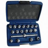 China 18-piece Drain Plug Key Set, Suitable for Removal Replacement of Oil Drain Plugs on sale