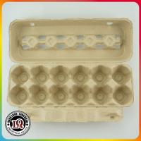 Post Consumer Molded 12 Up Pulp Disposable Paper Egg Trays Manufactures