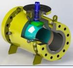 Stellite Coating Pipeline Ball Valve , Flange Weld Connection Split Body Ball Valve Manufactures