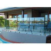 Buy cheap Exterior easy installation cheap balcony glass railing glass balustrade spigots from wholesalers