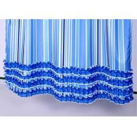 Colorful Ruffle Bathroom Shower Curtains Waterproof Thickening 100% Polyester Manufactures