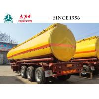 China Carbon Steel Fuel Tanker Trailer For Diesel Transport , Semi Trailer Fuel Tank on sale
