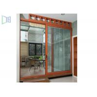 Quality Double Glazing Low E Aluminium Sliding Doors Anti Aging With Manual Shutter for sale