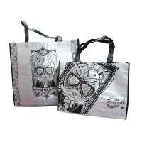 75g Pearl White Non Woven Printed Bags, Reusable Carrier Bag With Matt Coated Manufactures