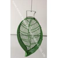 Metal Peanuts Bird Feeder / Wild Bird Feeders Green Leaf Shape Easy Clean And Monitor Manufactures