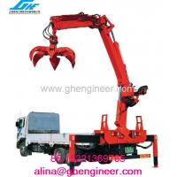 Truck Mounted Crane with Grab For Timber/ bricks/blocks Manufactures