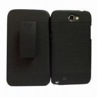 Rubberized Combo Holster Mobile Phone Case for Samsung Galaxy Note 2/N7100 Manufactures