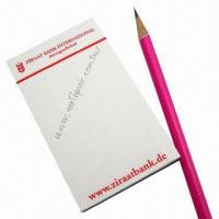 Standard Magnetic Note Pads, Made of Paper and Rubber Magnet, Customized Colors are Welcome Manufactures